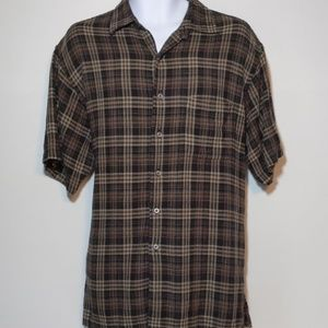 Van Heusen Studio short sleeve button down size L